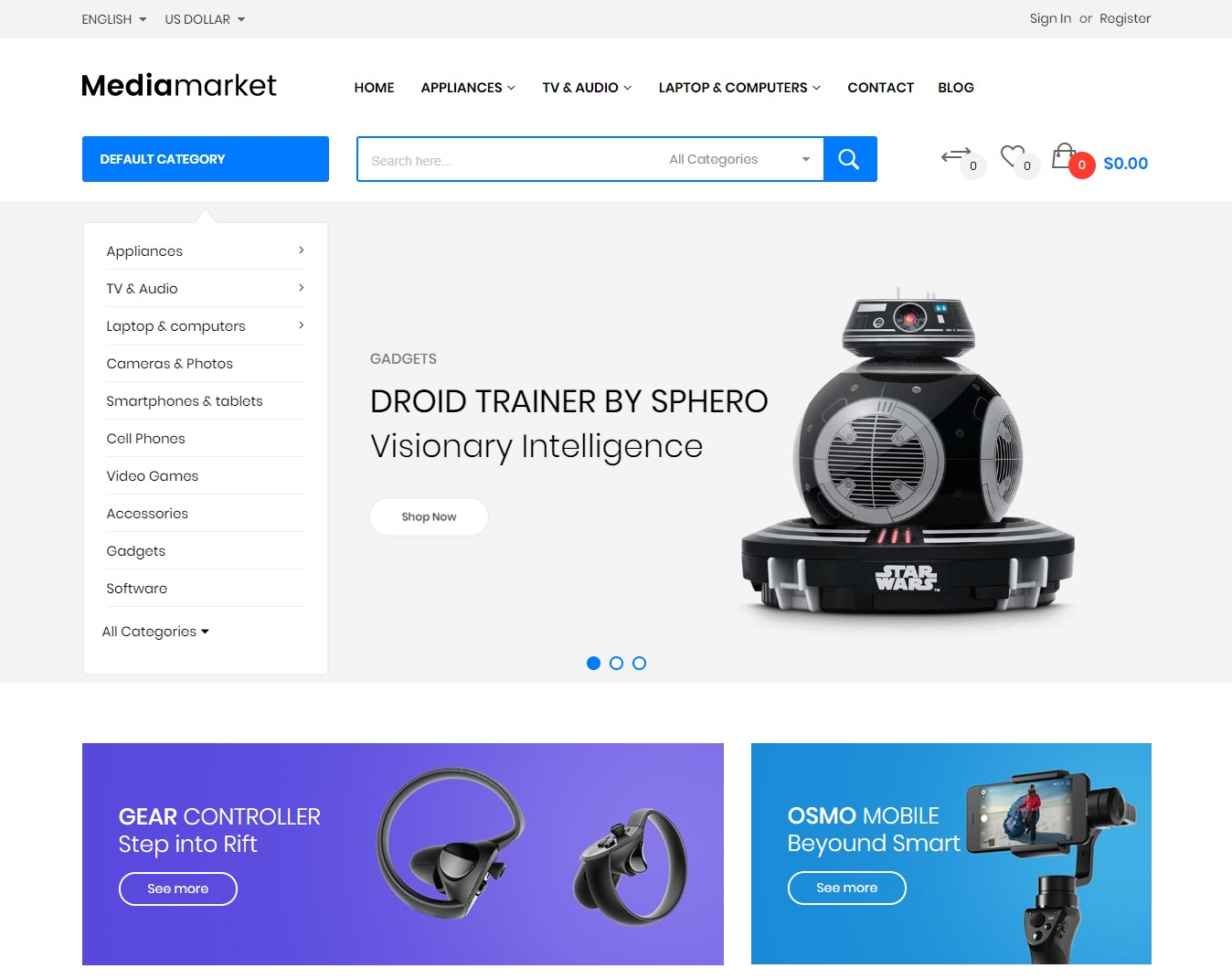 Mediamarket - Fully Responsive and RTL supported Magento Theme
