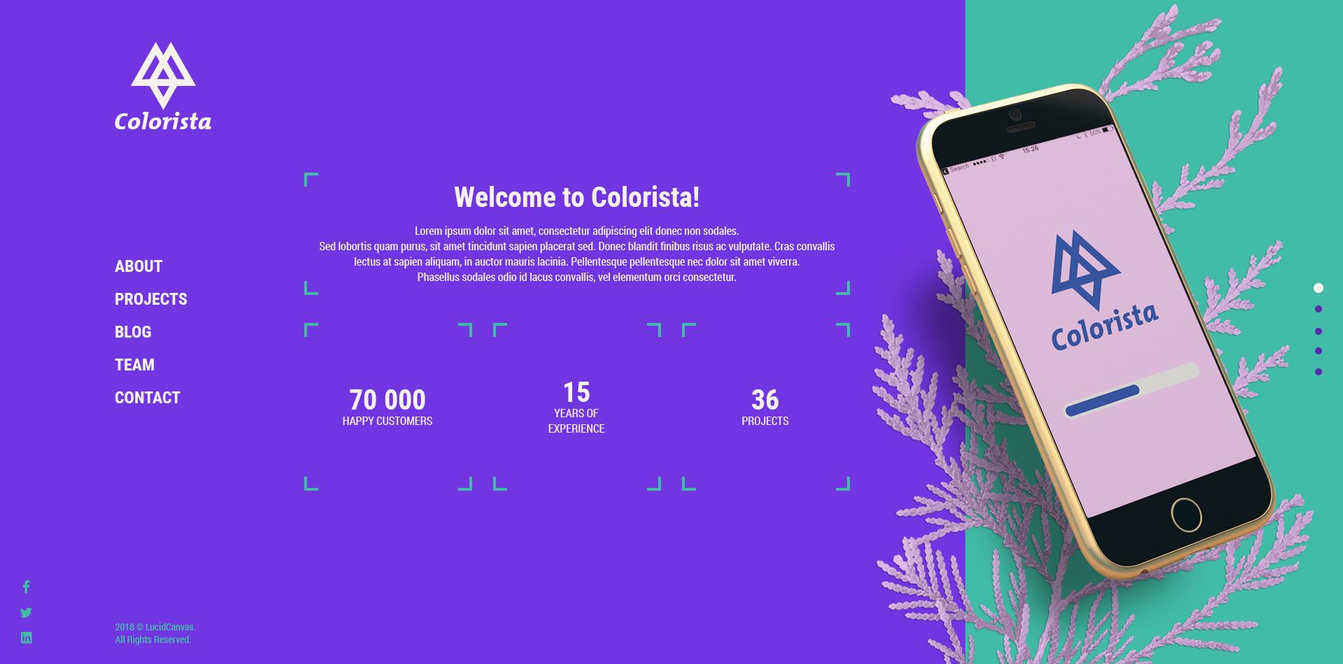 Colorista - Corporate Business / Portfolio Responsive Website PSD Template