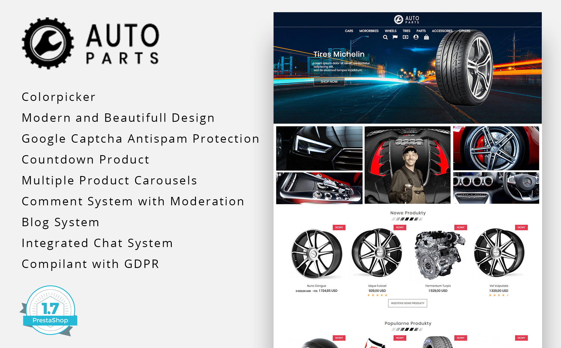 Auto Moto Parts PrestaShop Theme