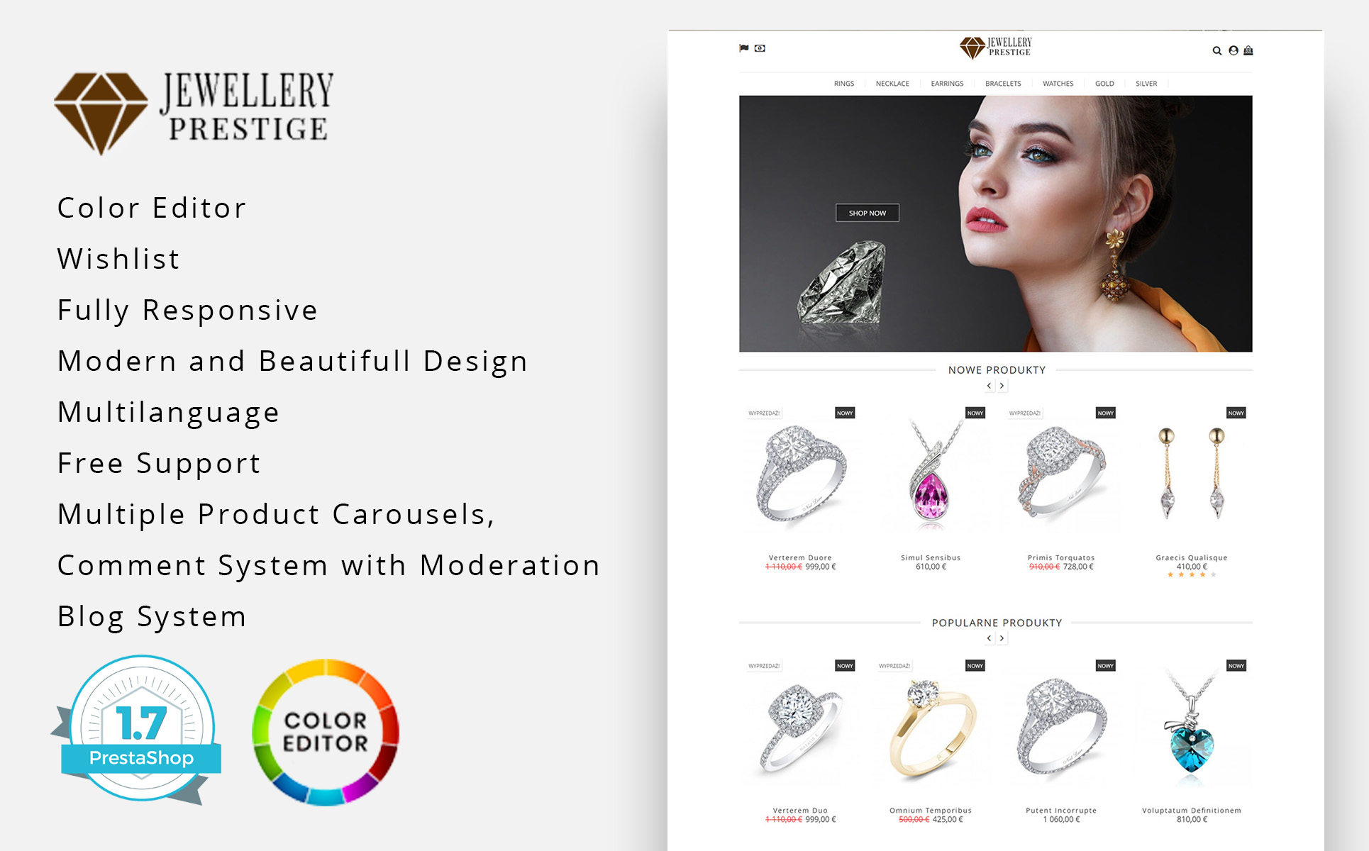 Prestige Jewellery PrestaShop Theme