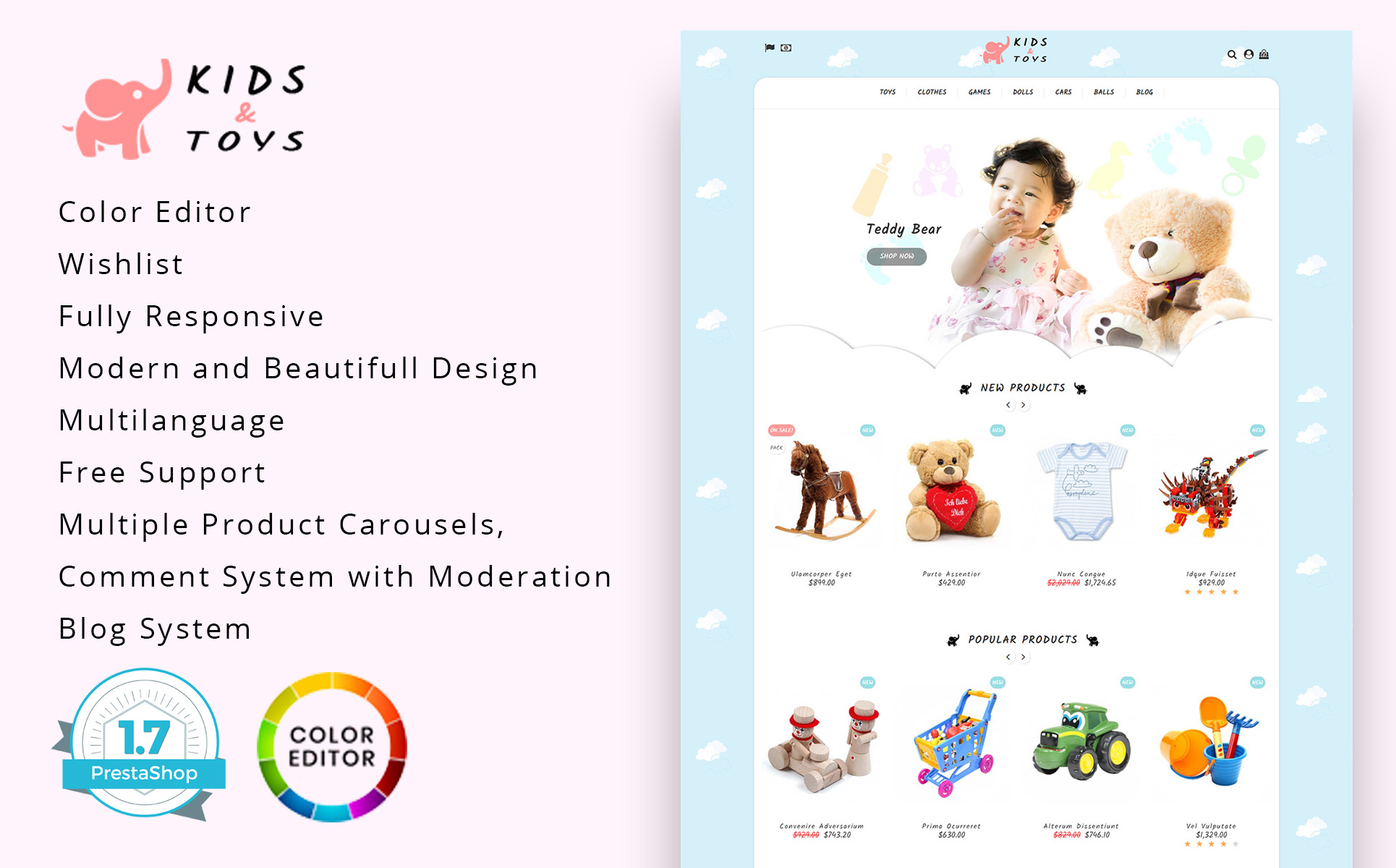 Kids Toys Store PrestaShop Theme