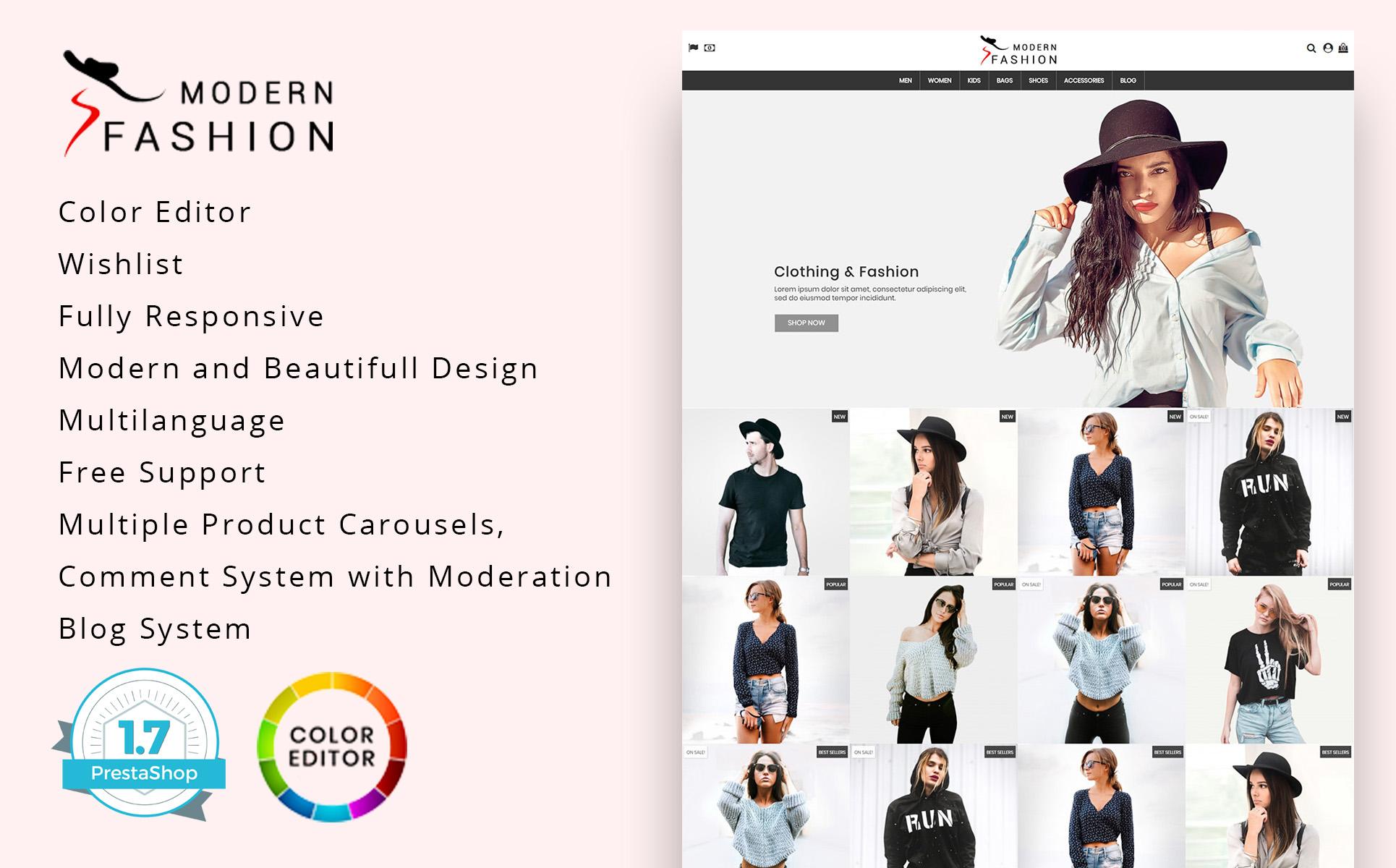 Modern Fashion 1.7 PrestaShop Theme