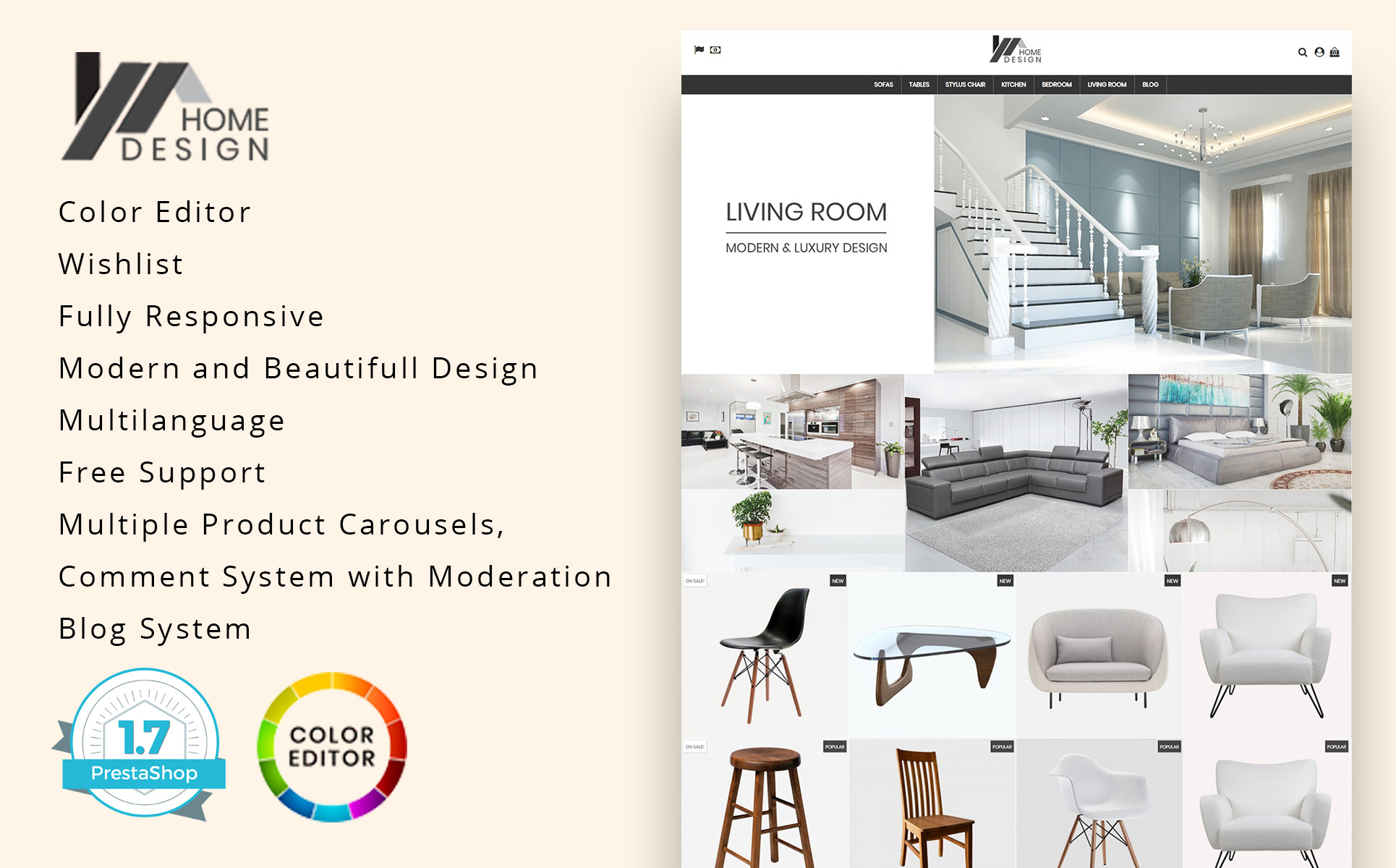 Home Design PrestaShop Theme