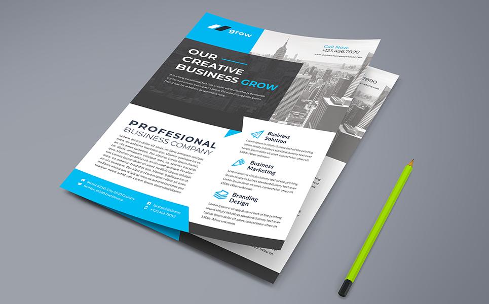 Creative Business Grow Flyer PSD Corporate Identity