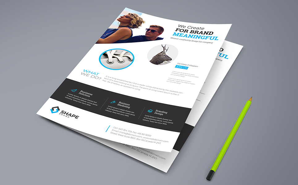 We Create For Brand Flyer PSD Corporate Identity