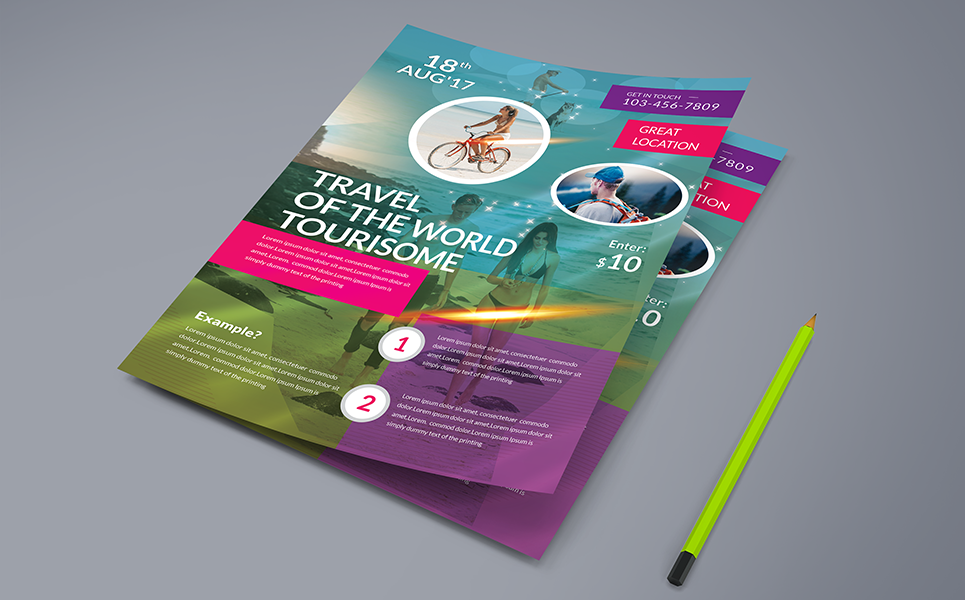 Travel Flyer PSD Corporate Identity