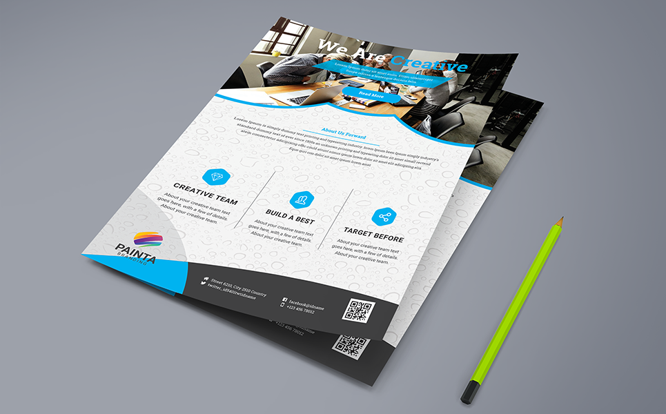 We Are Creative Flyer PSD Corporate Identity