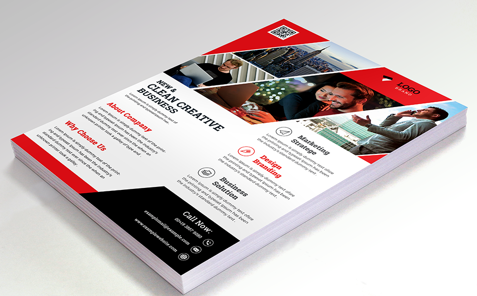 New & Clean Flyer Corporate Identity