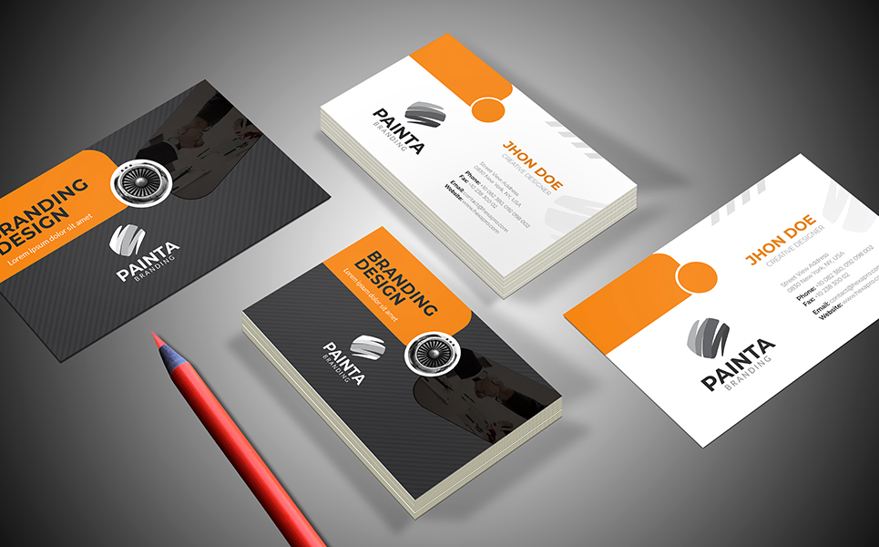 Orange Painta Business Card Corporate Identity