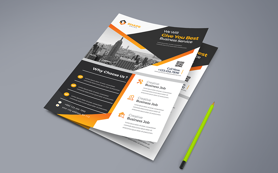 You Best Business Service Flyer Corporate Identity