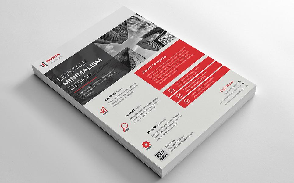Let's Talk Minimalism Design Flyer PSD Corporate Identity