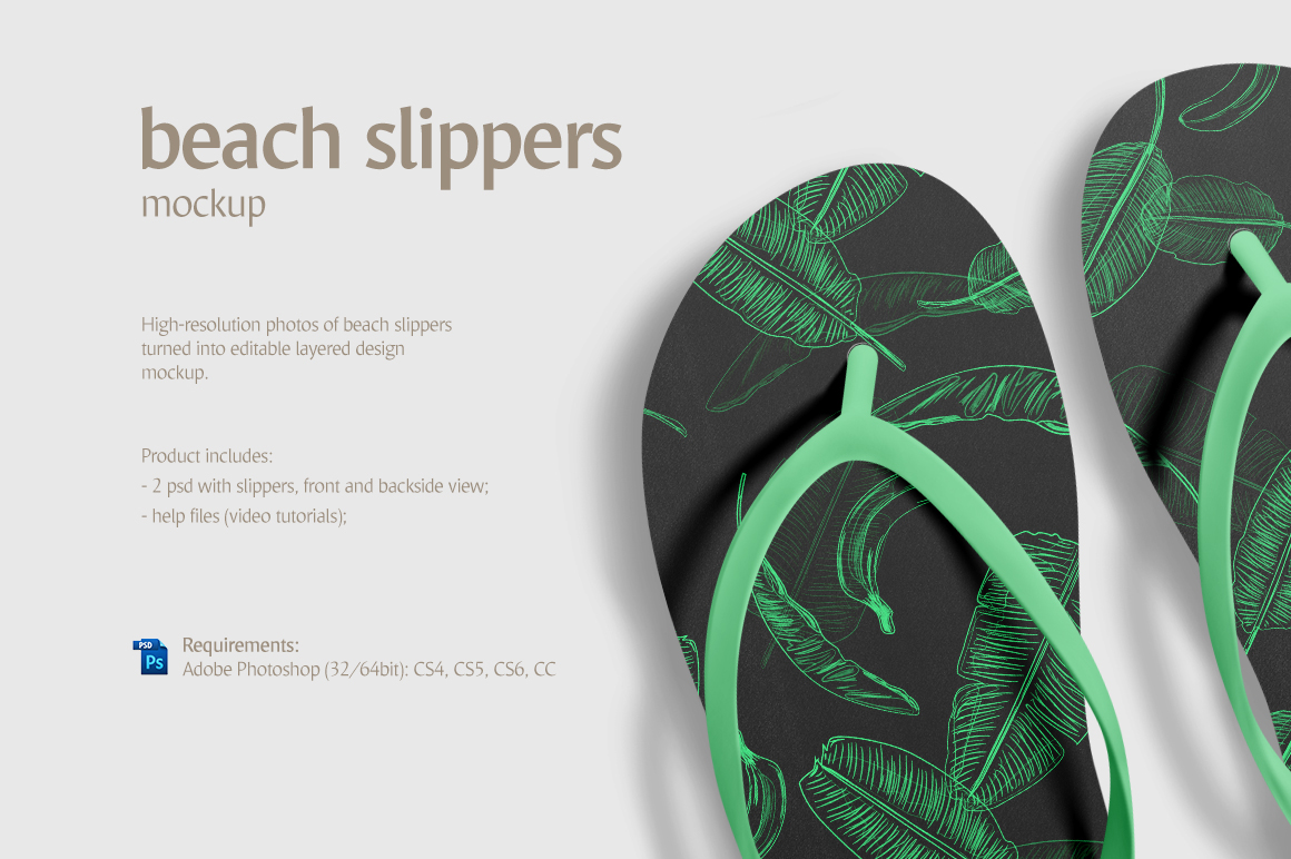 Beach Slippers Product Mockups