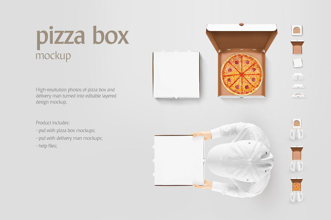 Pizza Box - Product Mockups