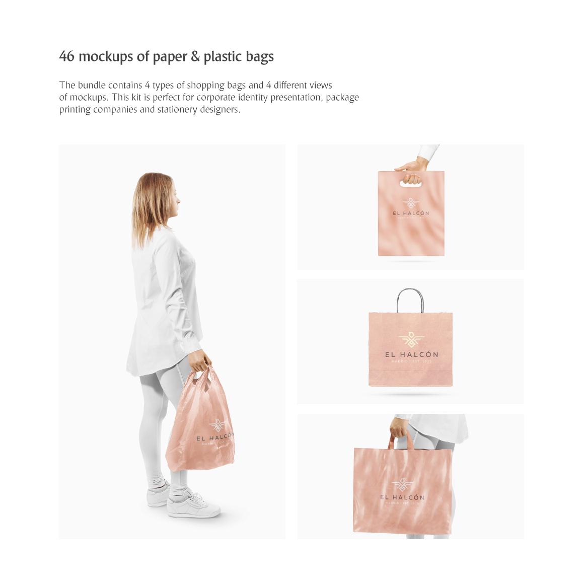 Shopping Bags Mockups Product Mockups