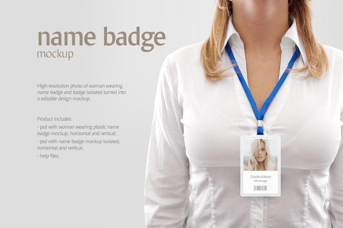 Name Badge Product Mockups