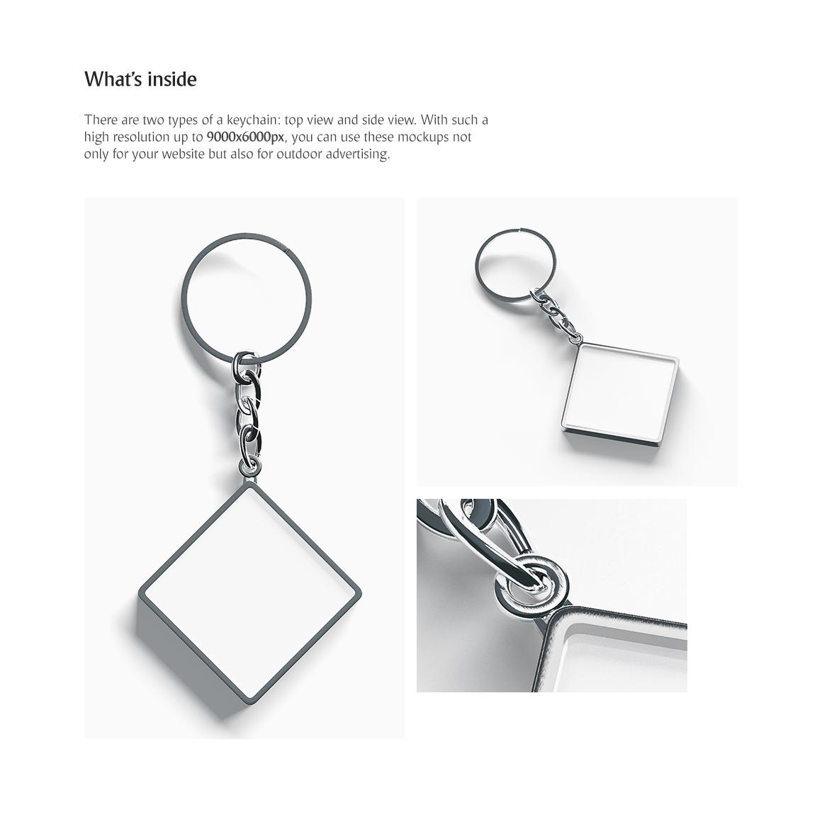 Rhombus Keychain Product Mockups