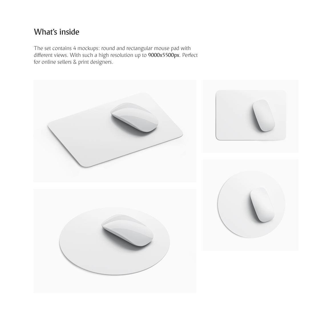 Mouse Pad Set Product Mockups