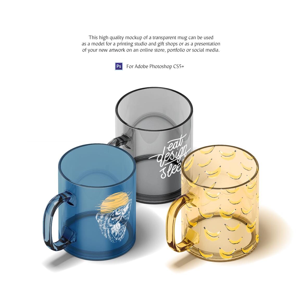 New Glass Mug Animated Product Mockups