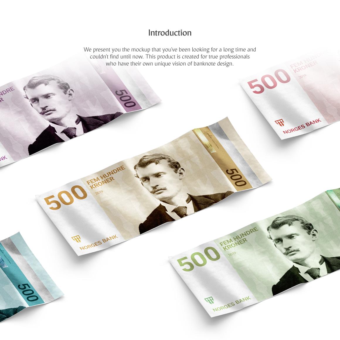 Banknote Set Product Mockups