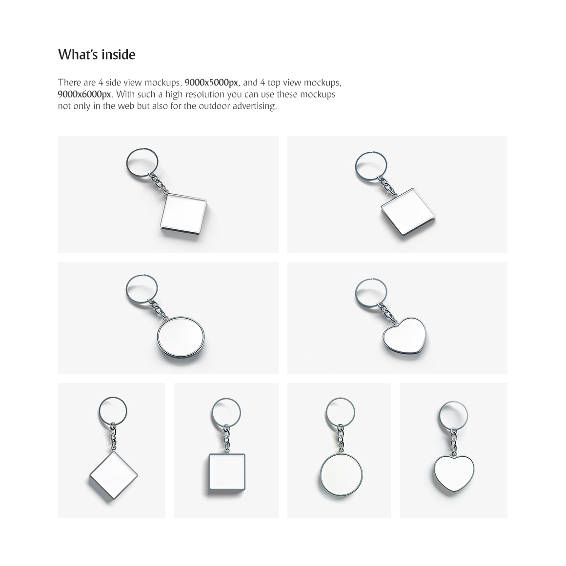 Keychain Set Product Mockups