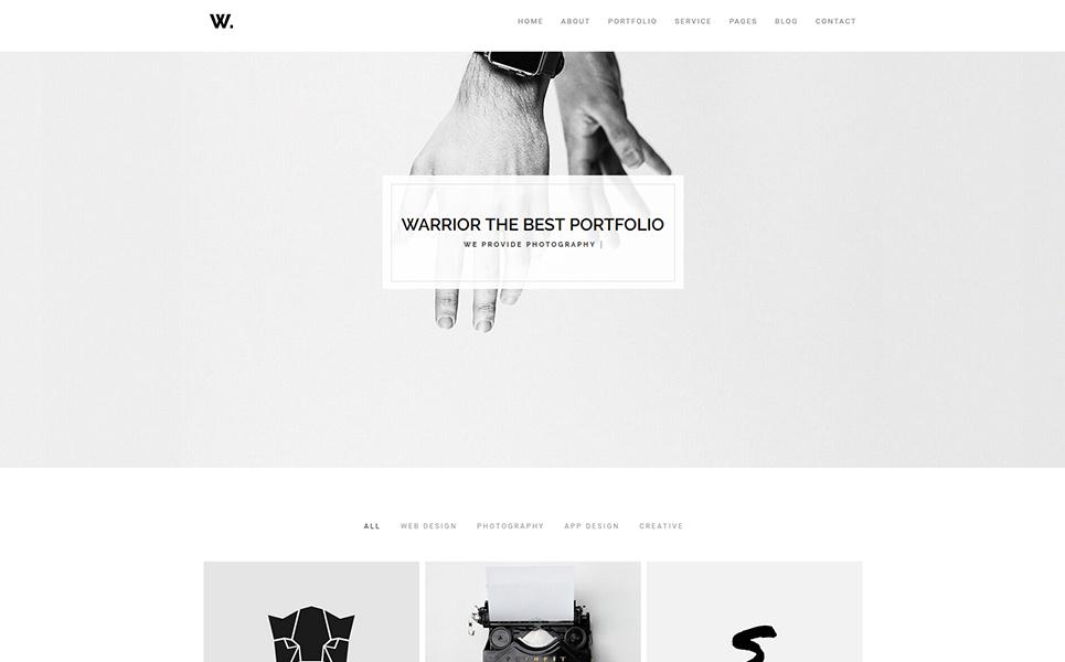 Warrior-Minimal Portfolio & Gallery Website Template