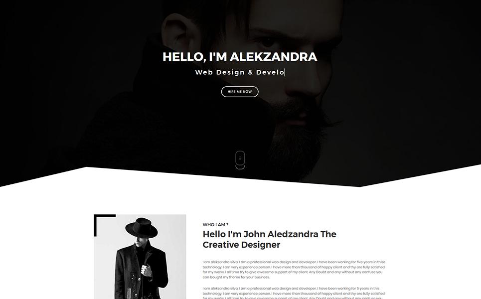 Aomio Personal Portfolio Landing Page Template