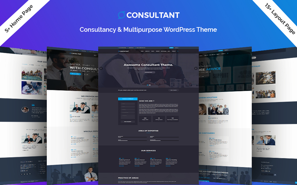 Consultant - Multipurpose HTML5 Landing Page Template