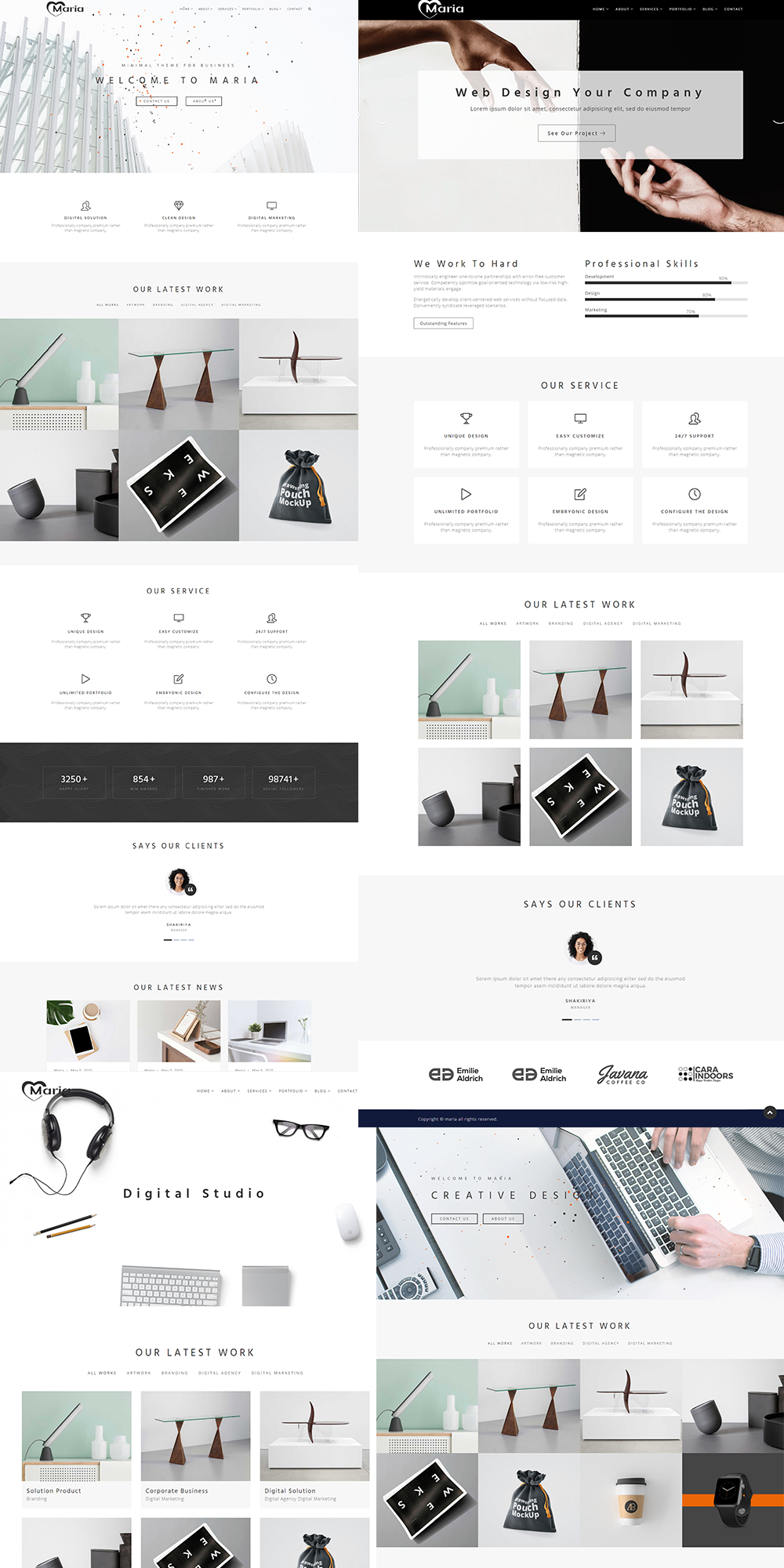 Maria - Minimal Portfolio & Multipurpose WordPress Theme