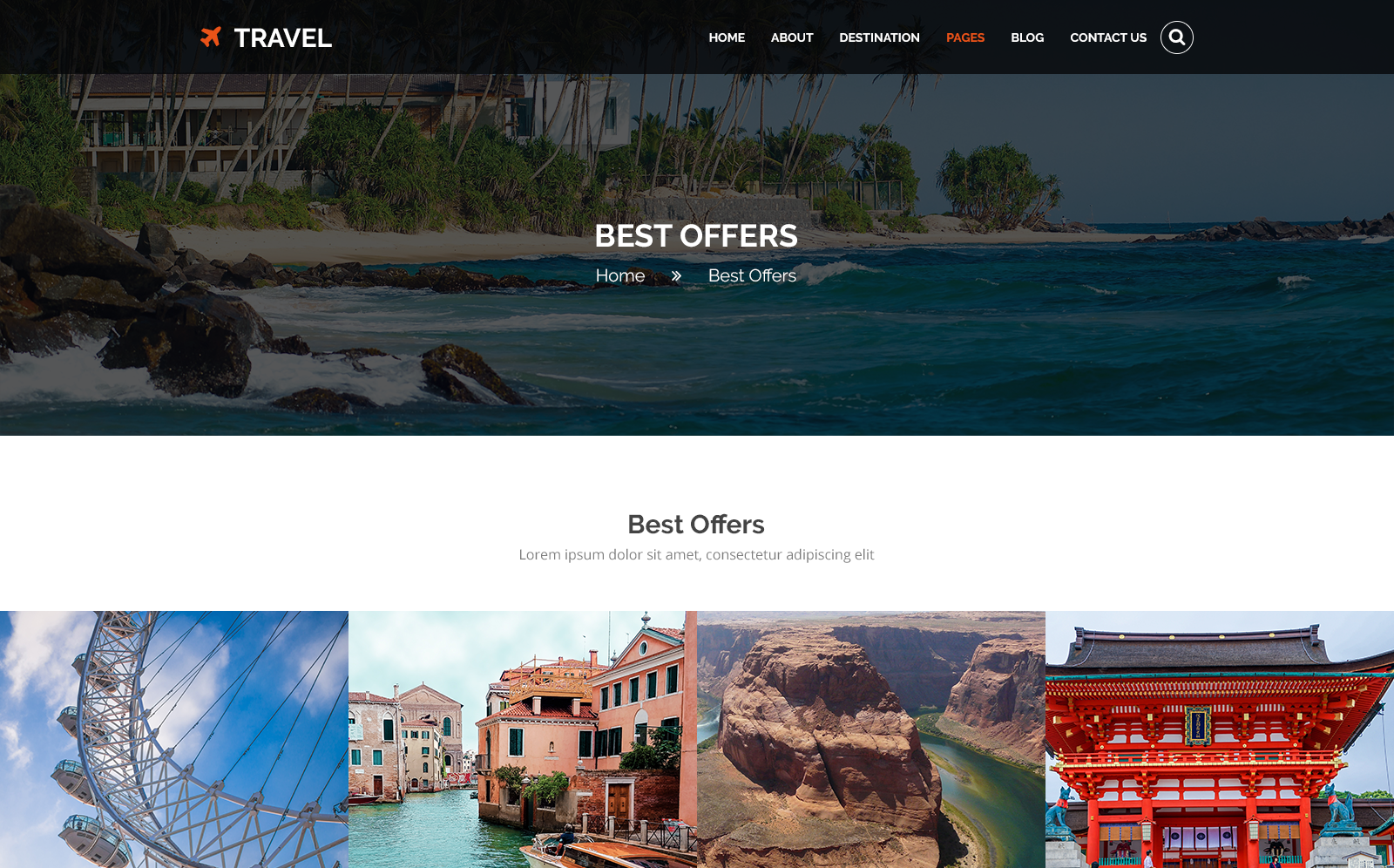 TRAVEL - Tours and Travel PSD Template