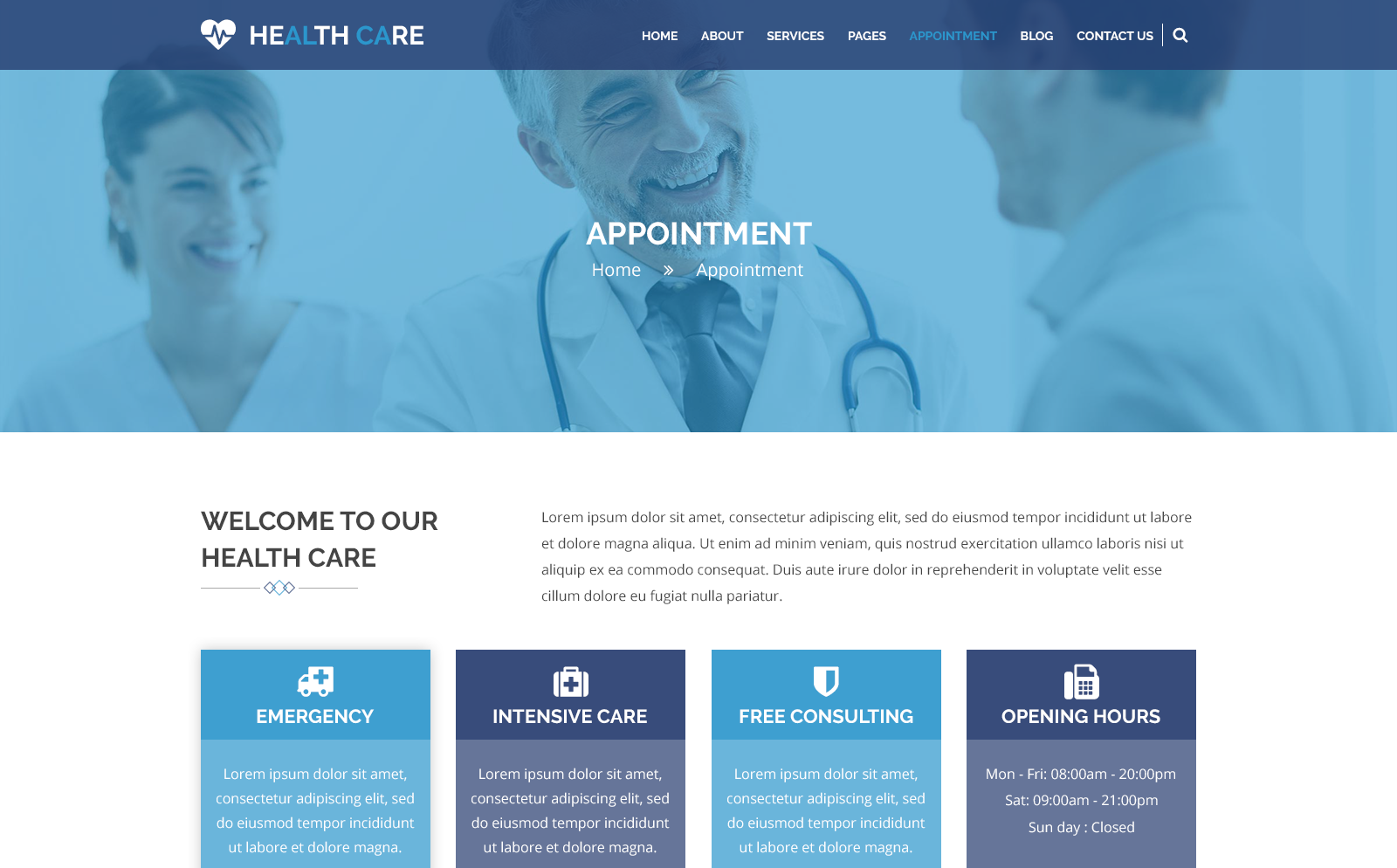 HEALTH CARE - Medical Center and Health PSD Template PSD Template