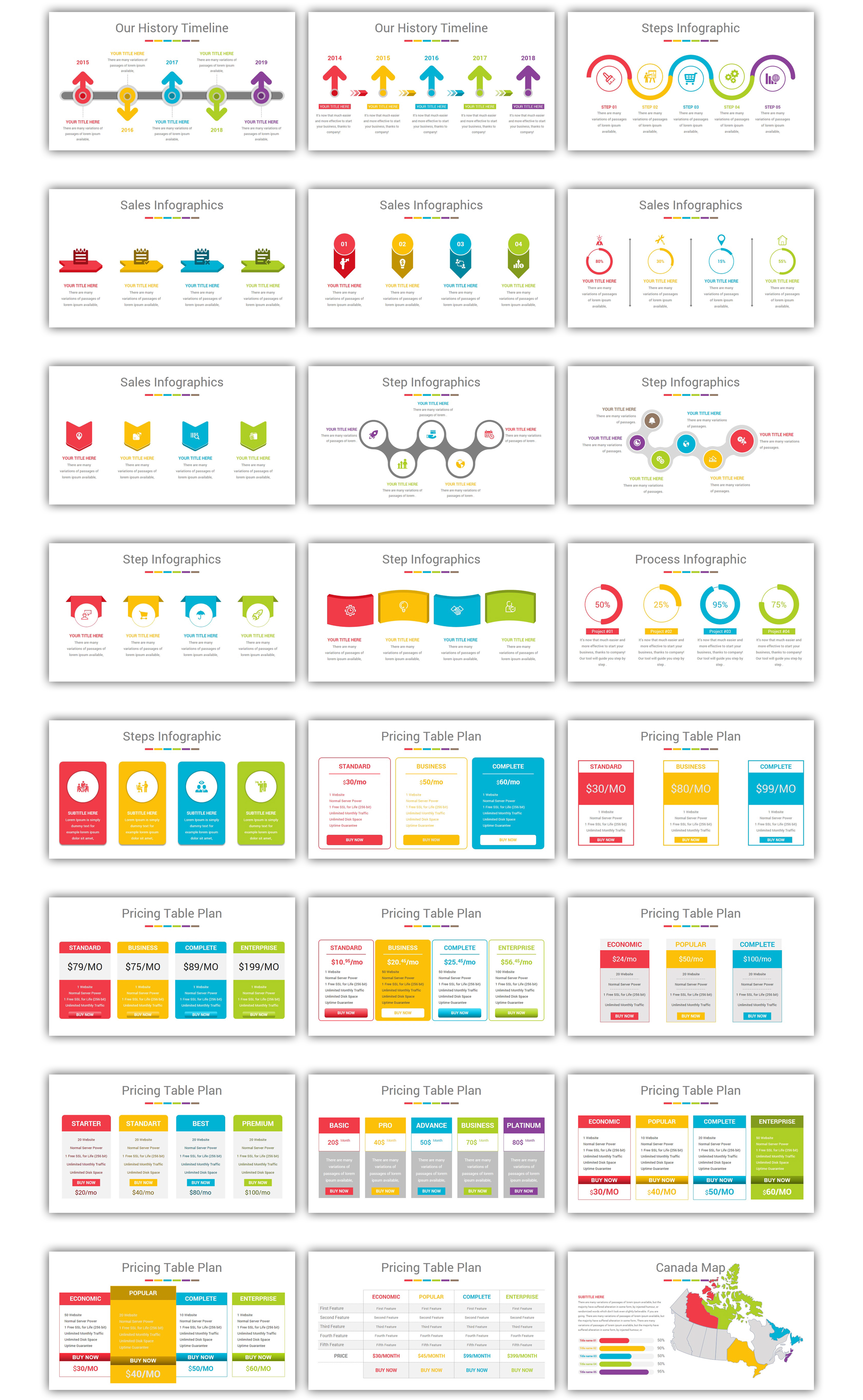 Multipurpose Infographics PowerPoint Template