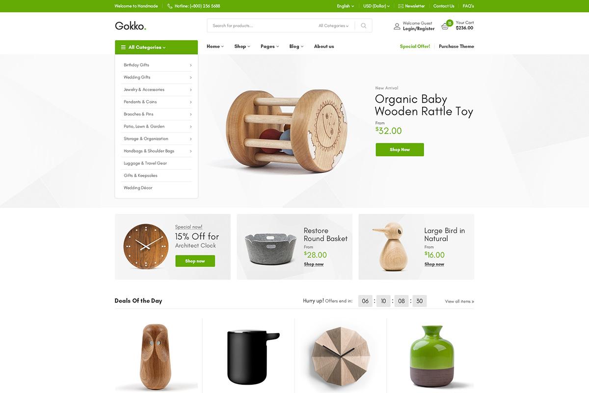 Gokko - Multi-purposes WooCommerce Theme