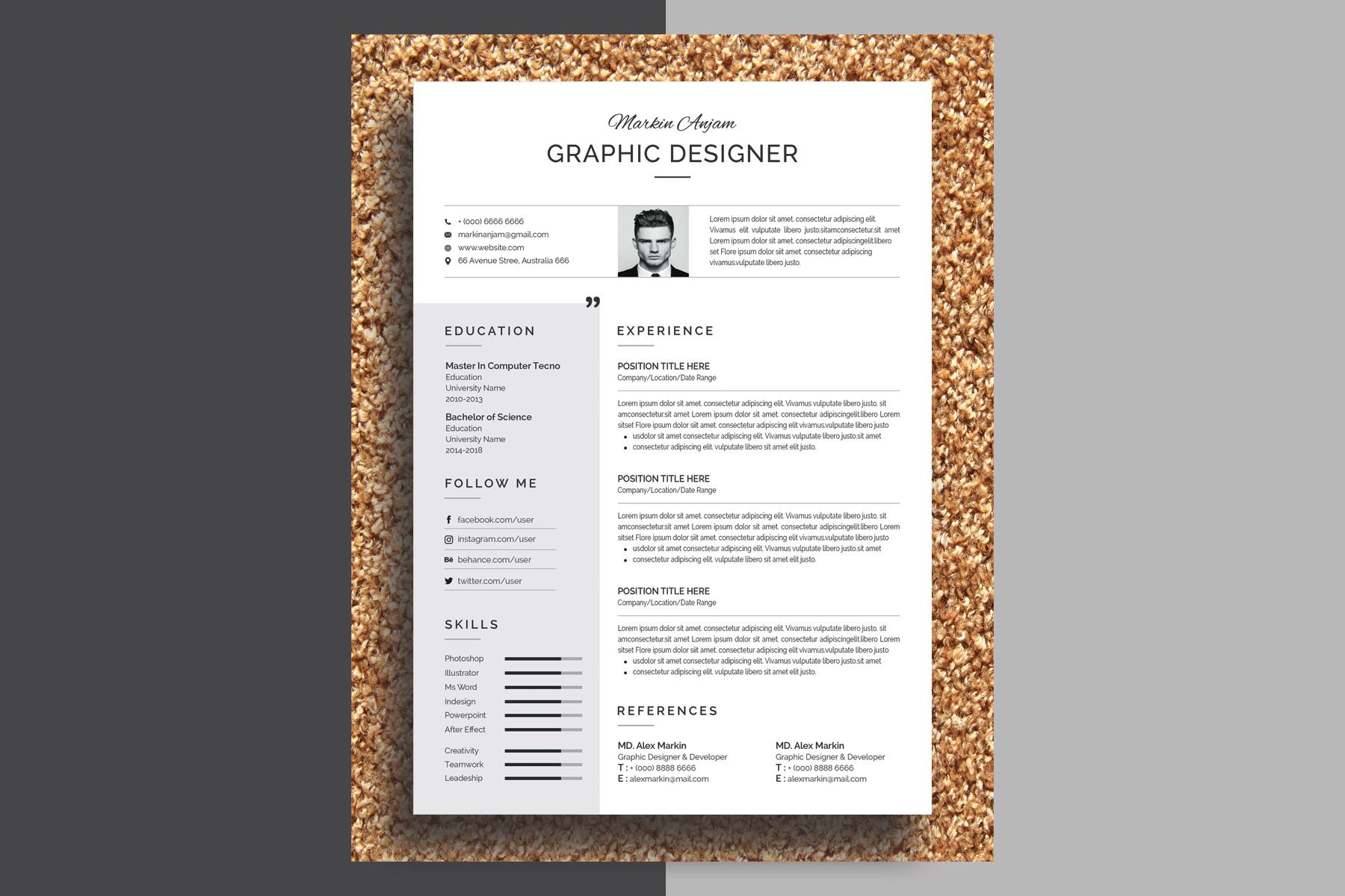 Gentle Modern & Professional Resume Template