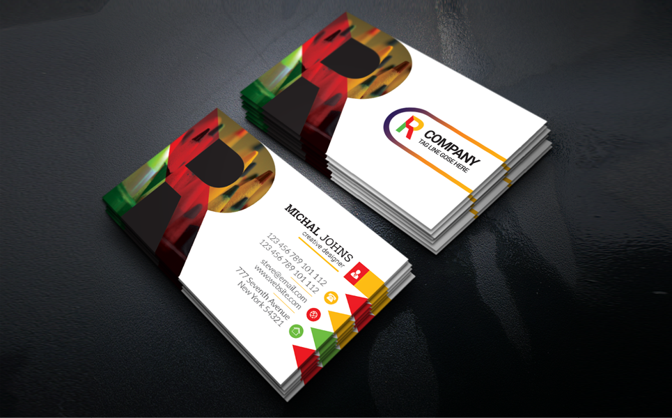 R Company Business Card Corporate Identity