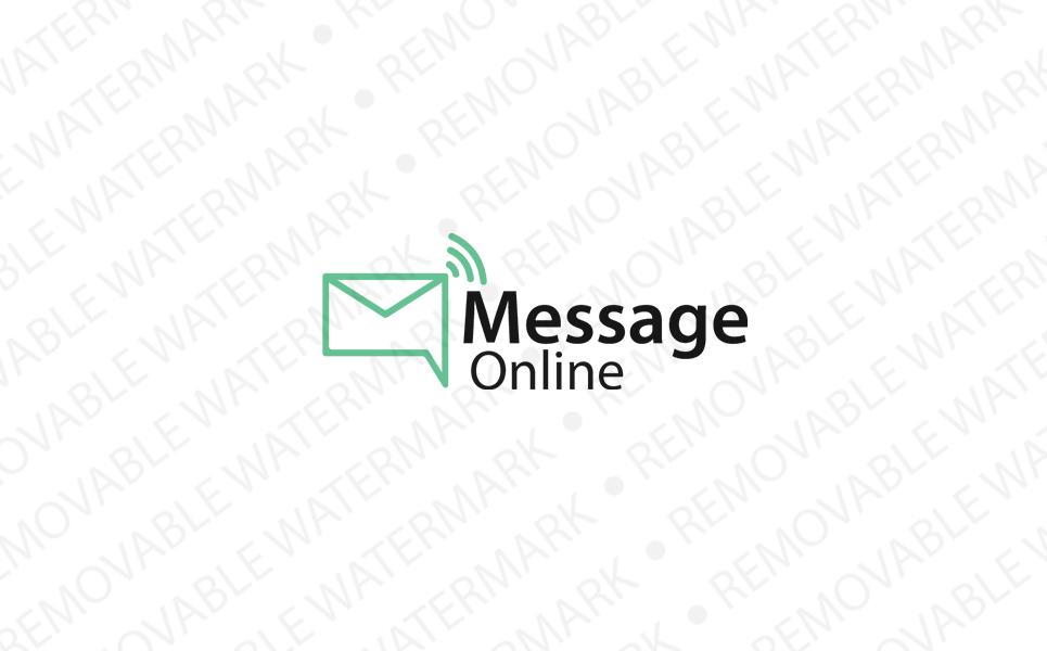 Message Online Logo Logo Template