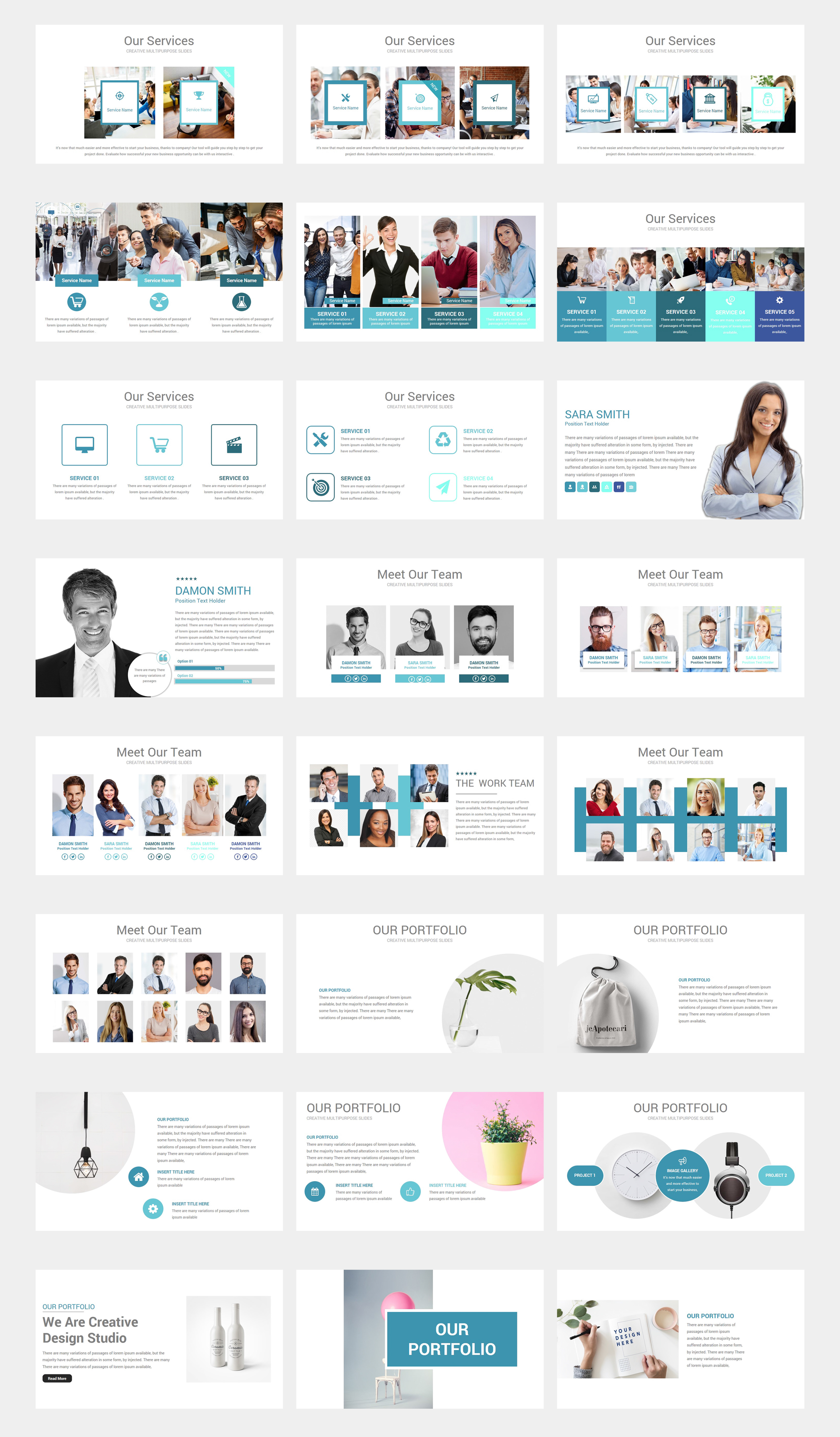 Process Pack  2 in 1 PowerPoint Template