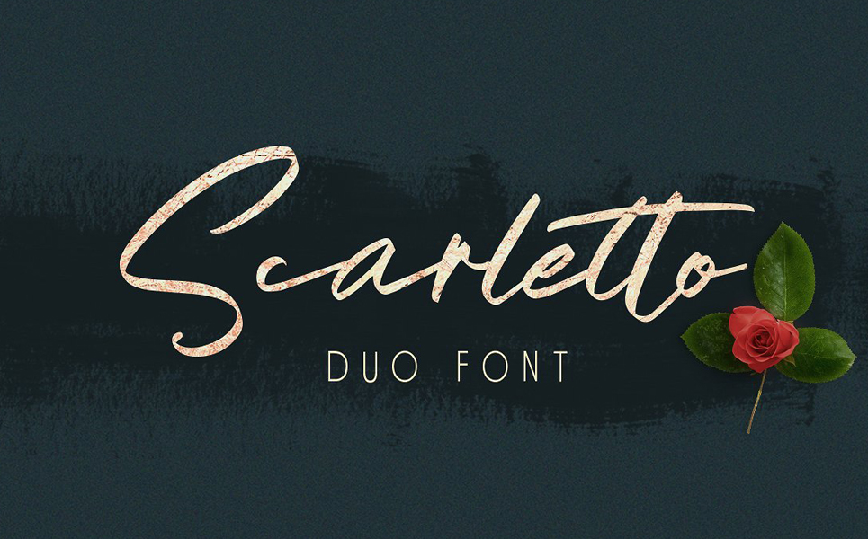 Scarletto Signature Duo Fonts