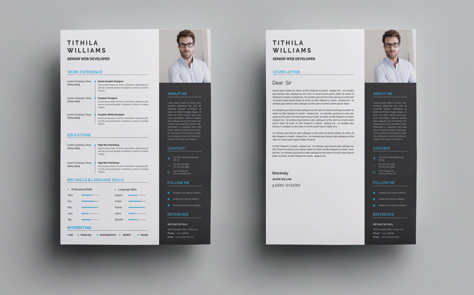 Tithila Willams Graphics Designer Resume Template