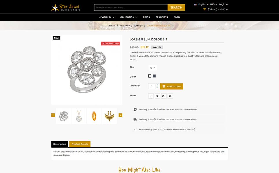 Starjewel - Jewellery Store PrestaShop Theme