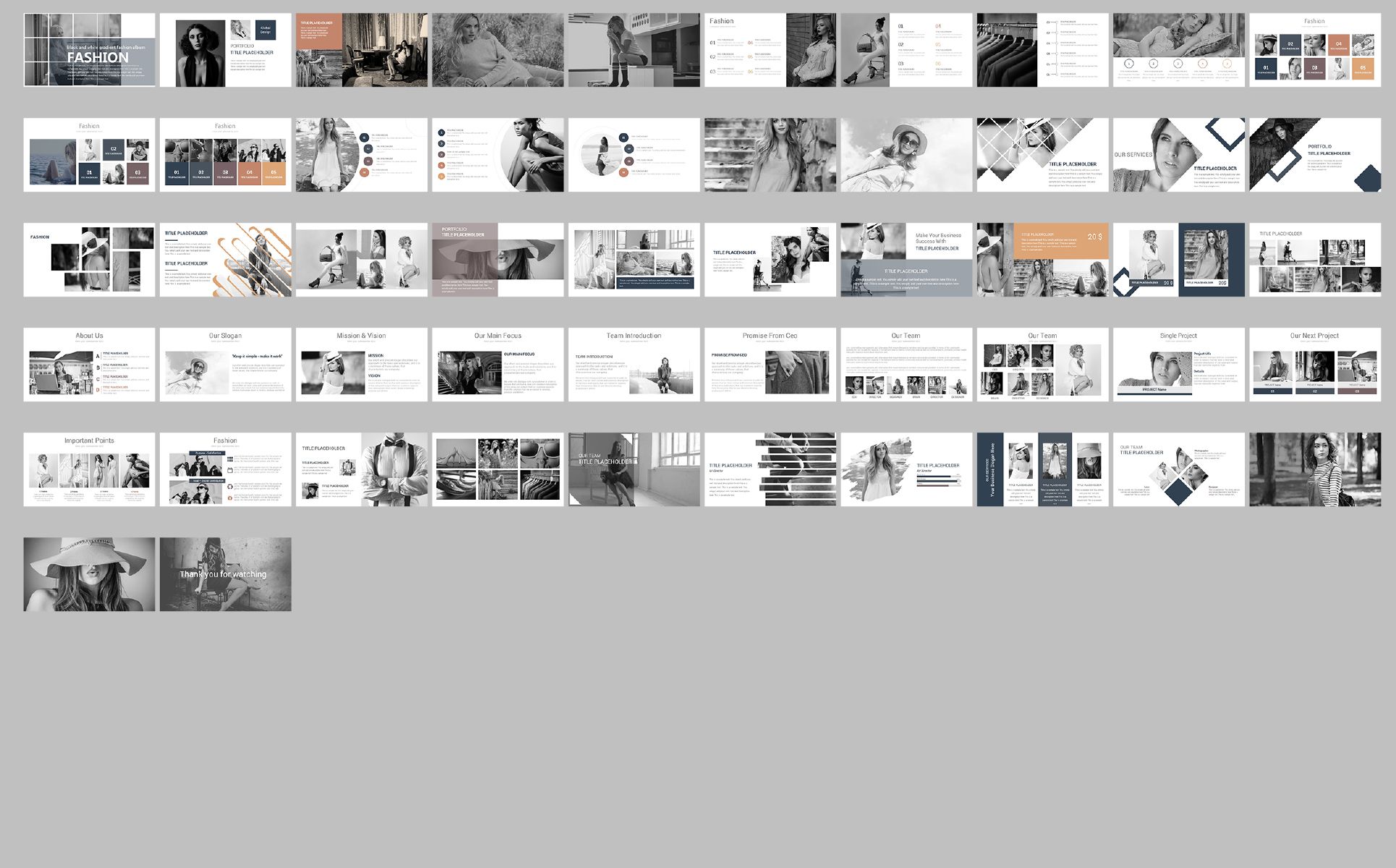 Fashion Presentations PowerPoint Template
