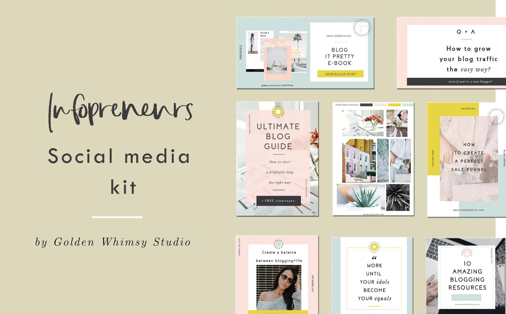 CANVA Infopreneur Kit Social Media