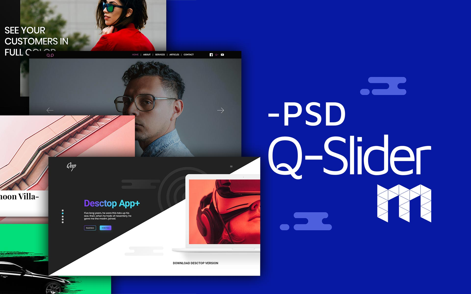 Qeep-Slider - Concept Slider, Modern and Functionally UI Elements