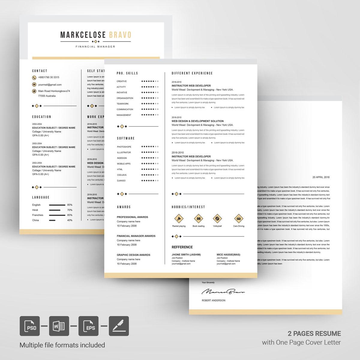 Most Popular Resume Template | Website Templates