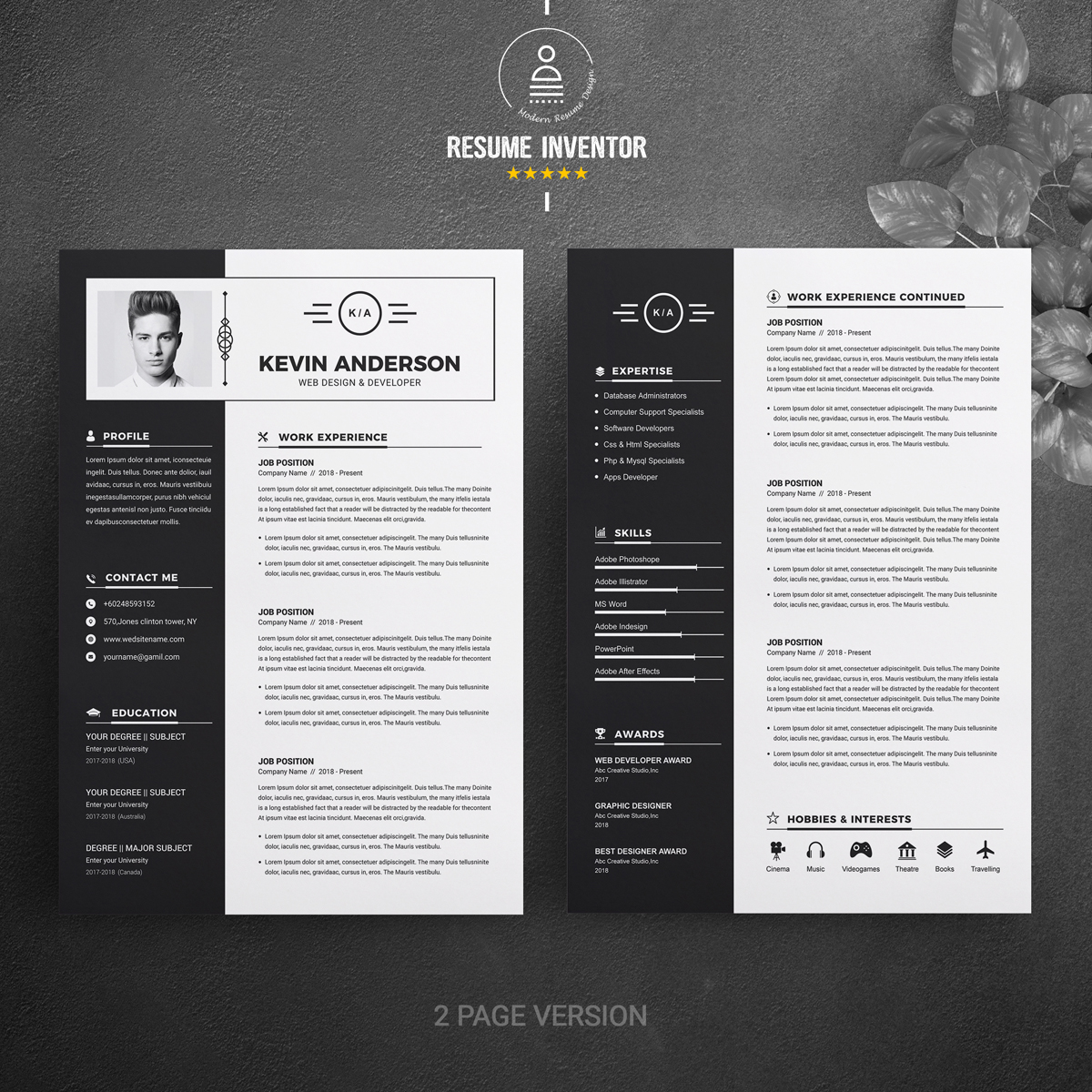 Most Popular Resume Template