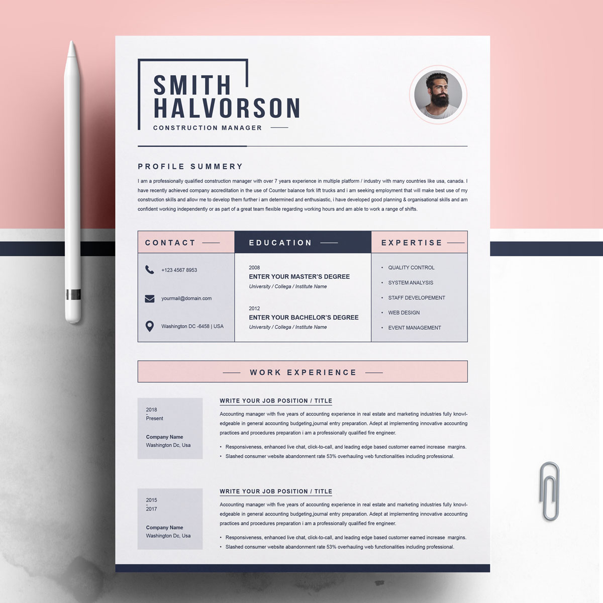 Smith Halvorson Resume Template