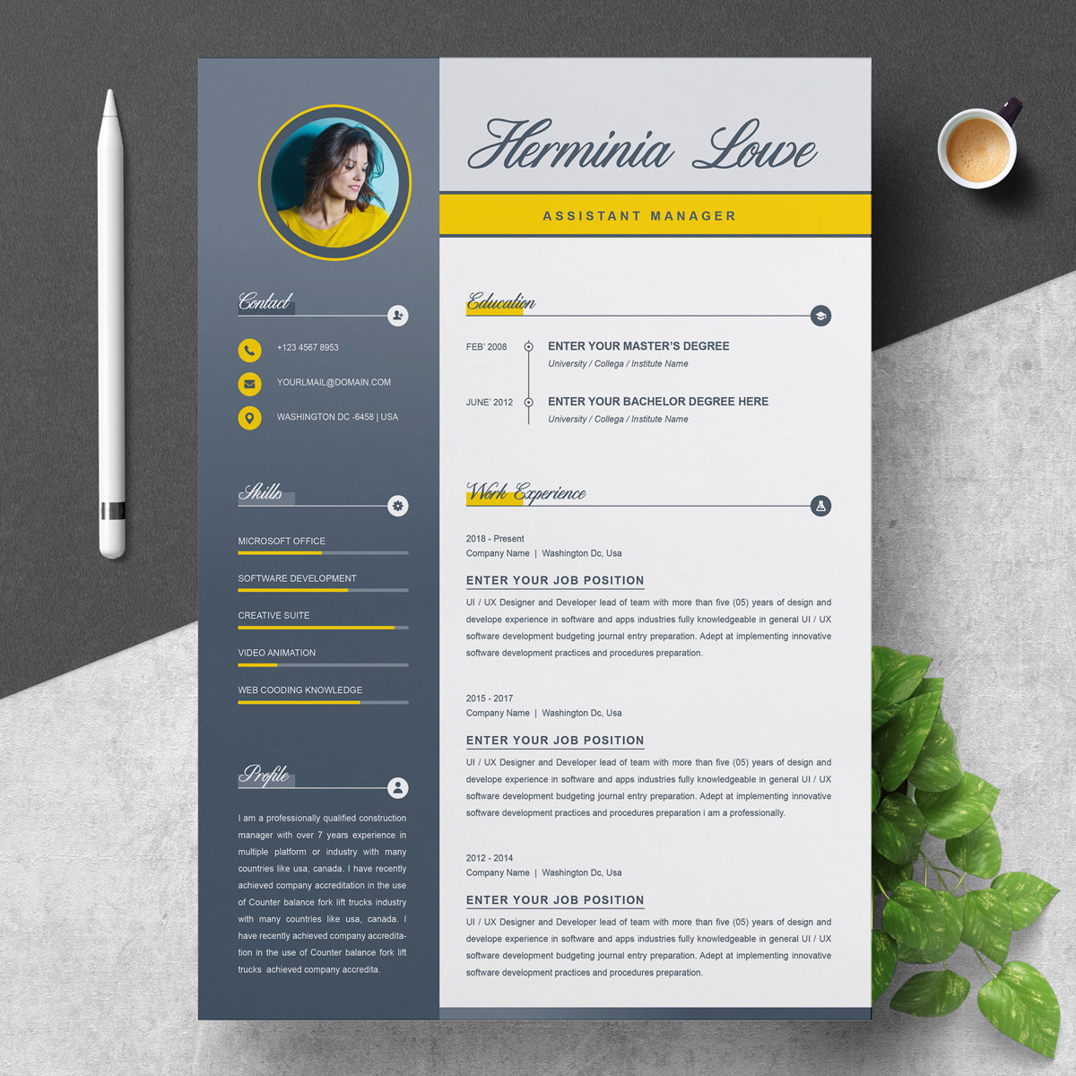 Herminia Lowe - Resume Template