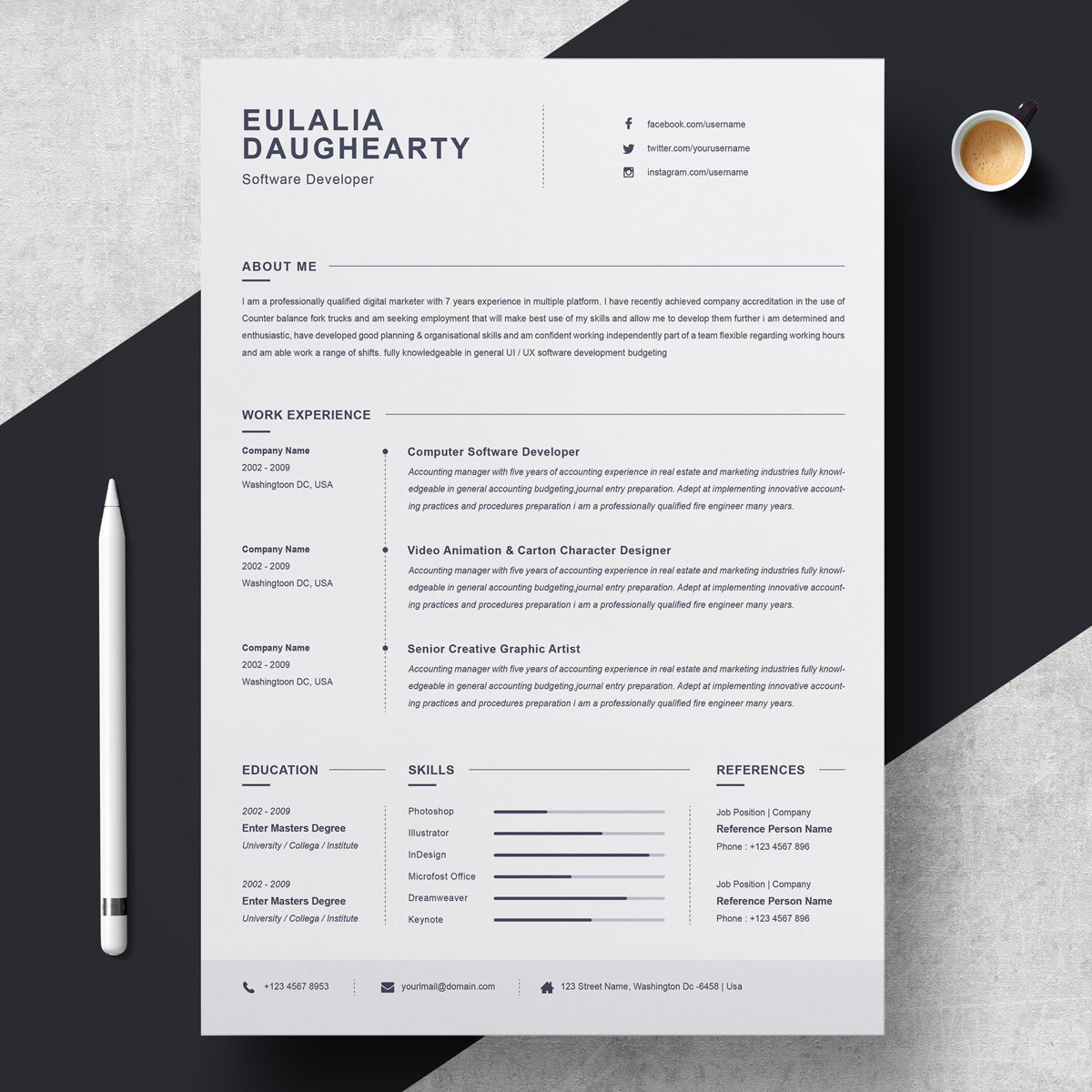 Eulalia Daughearty Resume Template