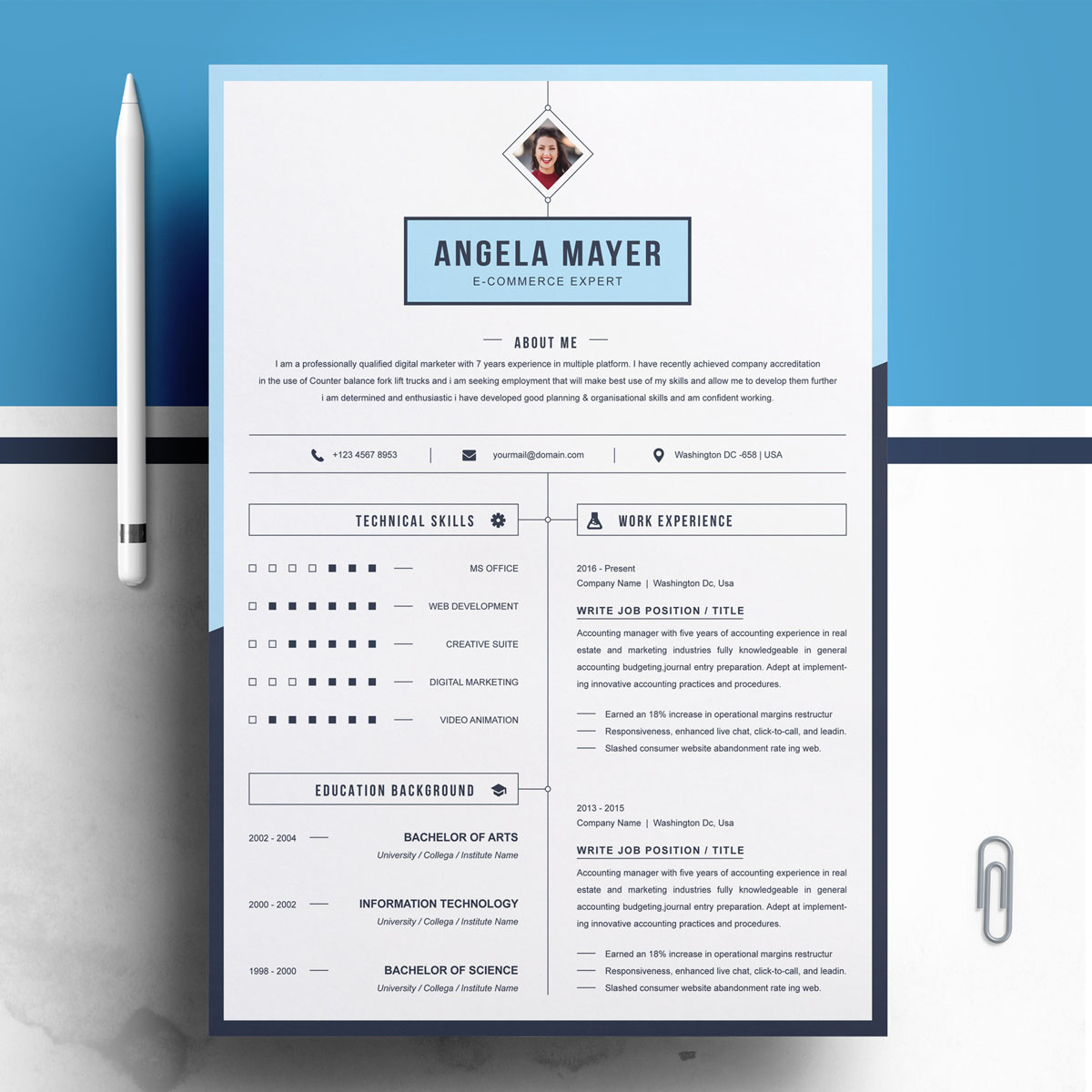 Angela Mayer Resume Template