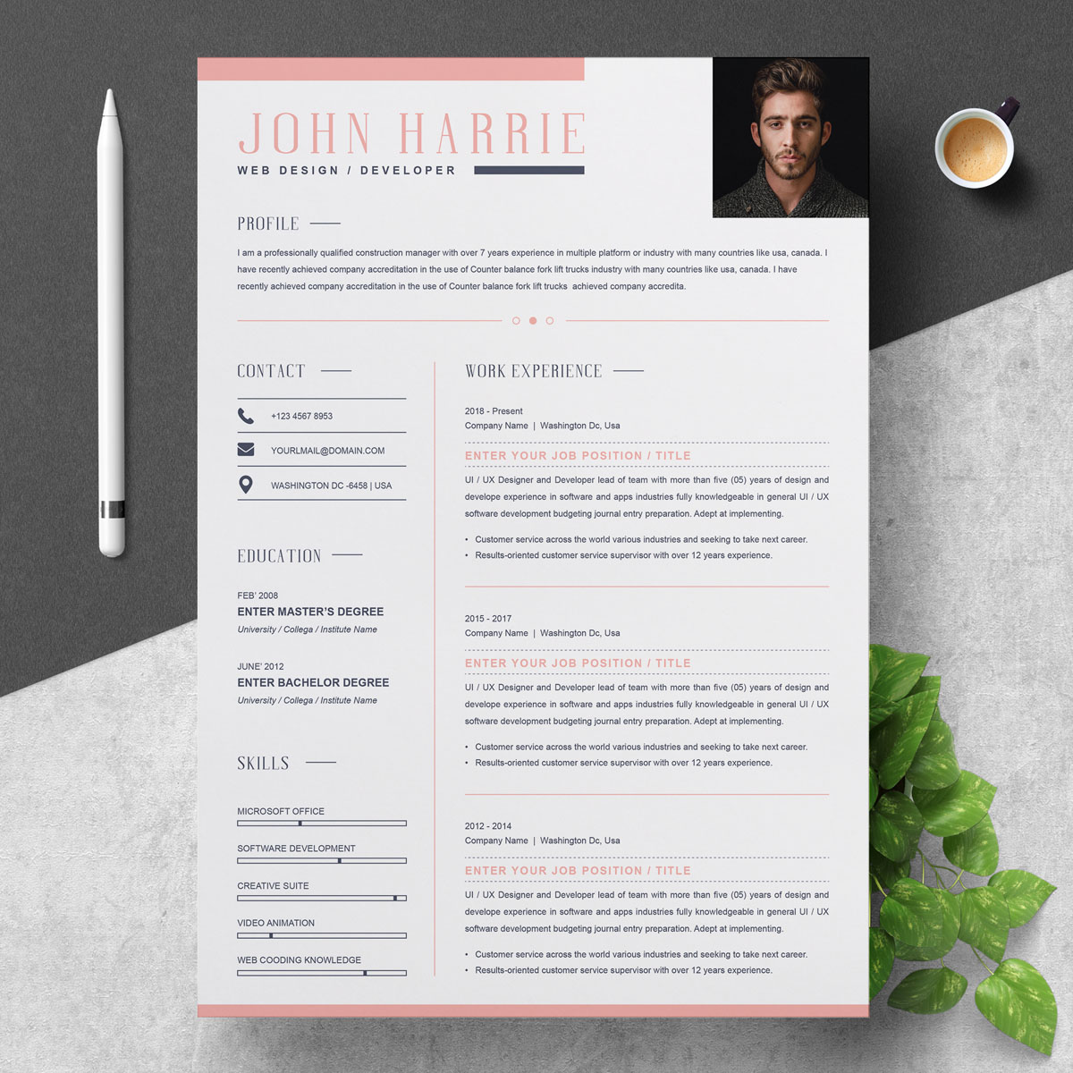 John Harrie Resume Template