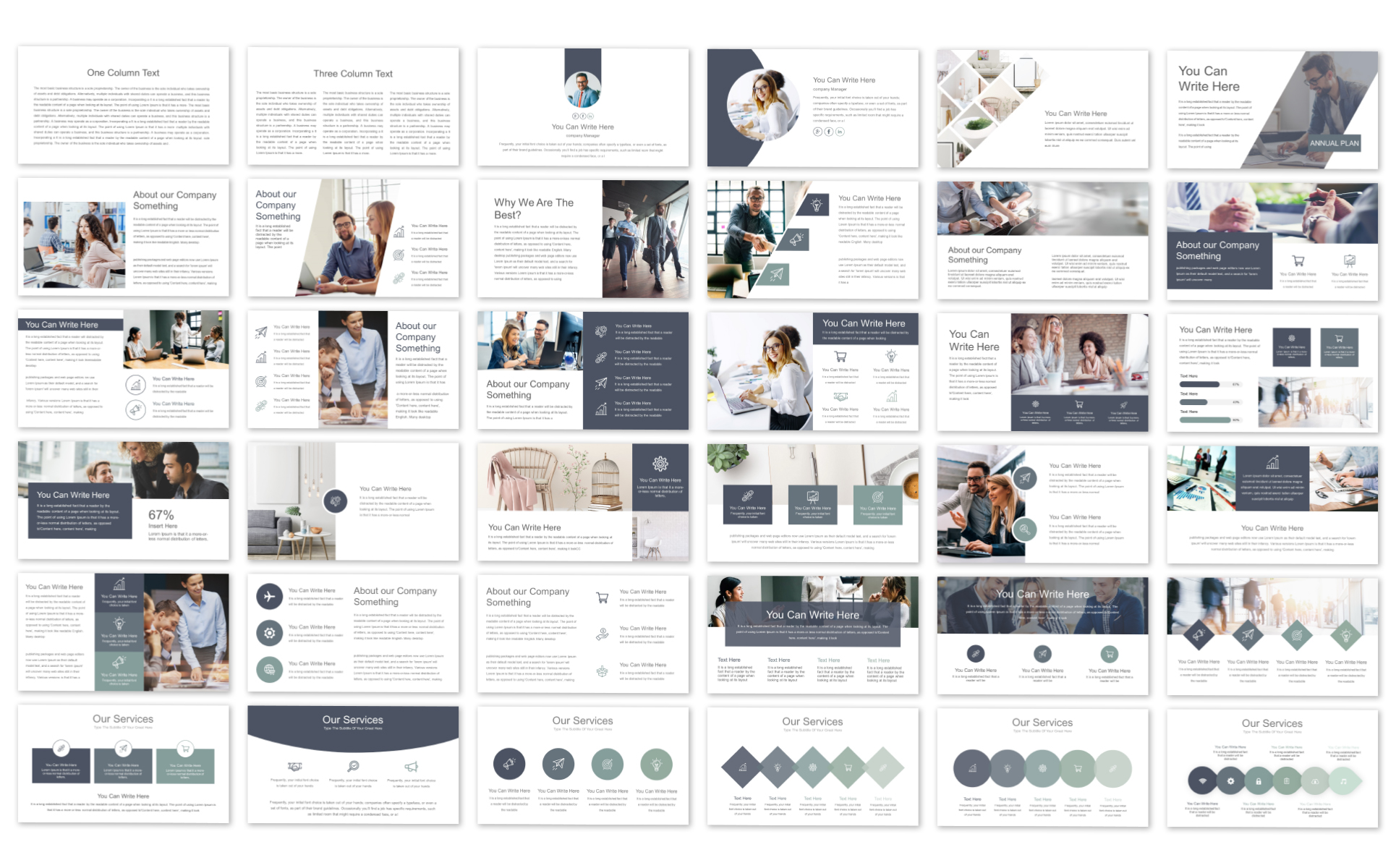Annual Plan - PowerPoint Template